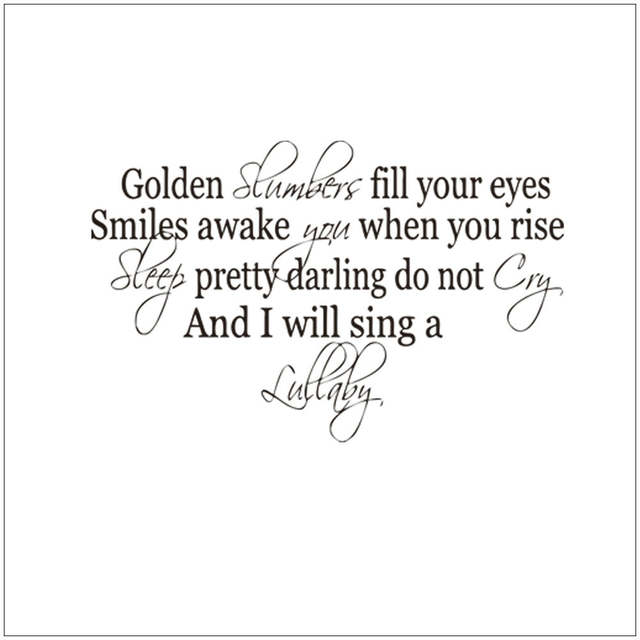 Online Shop Letter Quotes Gold Slumber Fill Your Eyes Smile Wakes
