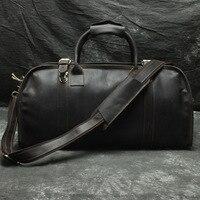 Fashion Large Capacity Travel Bag Weekend Duffel Bag Genuine Leather Men Travel Tote Handbag Popular Design Big Shoulder Bag DH8