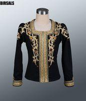 Black gold Man Ballet Comeptition Stage Ourwear Costume Men Boys Professional Ballet Dance Jacket Tops0001B
