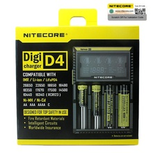 Nitecore D4 D2 New I4 I2 Digicharger LCD Intelligent Circuitry Global Insurance li ion 18650 14500 16340 26650 Battery Charger