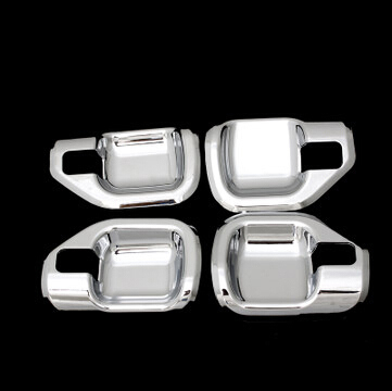Chrome Handle Covers for Jeep Compass 2011-2014 Inner Door Handles Cover Chromed Molding Decoration Styling Parts Free Shipping excellent 4pcs set chrome plated door handle covers car sticker for volkswagen vw sagitar car styling door handle chrome sticker