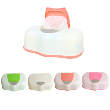 80 Sheets Wet Tissue Box Plastic Wet Wipes Storage Case Box Refillable Container , Baby Wipes Storage Organizer Box-W110
