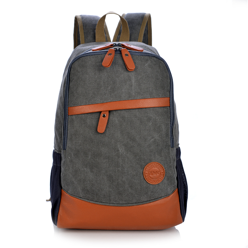 Large Capacity Vintage Canvas Travel Backpack Men Patchwork Leather Men Laptop Backpack 14 Inch Casual School Bags For Boys 1125 men s casual bags vintage canvas school backpack male designer military shoulder travel bag large capacity laptop backpack h002