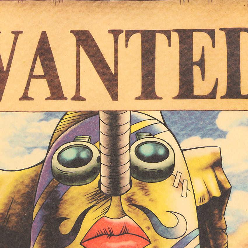 AMARRAR LER Japonês Poster Anime One Piece Usopp Cartazes Kraft Papel Poster do Filme EU Estilo Adesivos de Parede 51.5X36cm