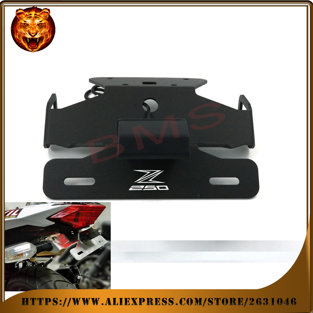 Motorcycle Tail Tidy Fender Eliminator Registration License Plate Holder LED Light For KAWASAKI Z250 2013 2014 250 free shipping motorcycle tail tidy fender eliminator registration license plate holder led light for kawasaki ninja 1000 ninja1000 2011 2015