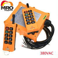 380VAC 10 Channel 2 Speed 2 Transmitter Hoist Crane Truck Radio Remote Control System Controller Tell