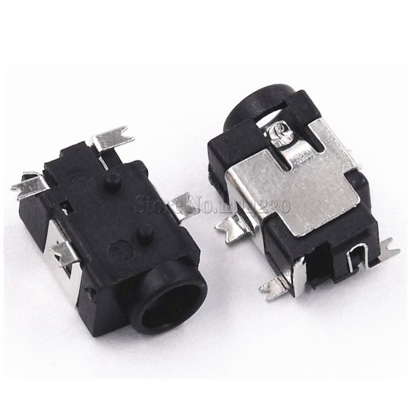 10Pcs DC Power Jack Socket Female Panel Mount Connector 3.5 mm x 1.35mm TDO