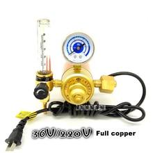 YQT-731L углекислого газа стол Давление редукционный клапан для е-байка 36В/220 V смешанный газ Давление редуктора электрического отопления C02 стол 150 W/75 W