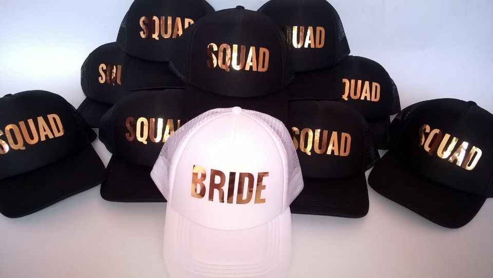 ... C Fung Bride SQUAD Tribe Bachelorette Hats fashion Wedding Preparewear Trucker  Caps White Neon Summer Mesh ... cef0b65d4f37