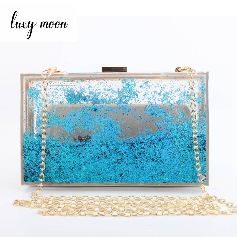 New 2018 bling bling evening bags acrylic day clutch colorful purse and handbags chains shoulder bag mini wallet women beach bag free shipping 2015 top gifts new bride rhinestone evening bags punk colored acrylic diamonds clutch bag shoulder handbags 0430