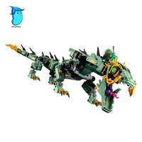 StZhou Mi Ni Wan Dou Lepin 592pcs Movie Series Flying Mecha Dragon Building Blocks Bricks Baby