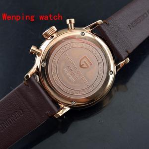 Image 5 - トップファッションデザインパガーニ 43 ミリメートルホワイトローズゴールドケースクロノグラフ日本クォーツ男性の古典的なシンプルさ腕時計ギフト