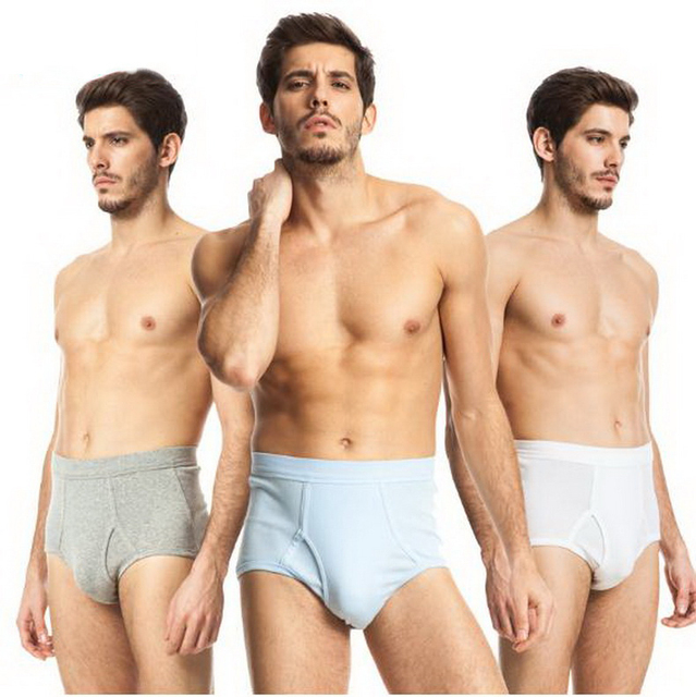Men 's cotton briefs /high waist/large size /breathable/loose Comfortable / sexyTriangle pants 2XL/3XL/141008