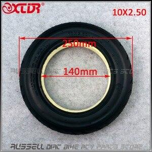 Image 5 - 10x2.50 solid tire tubeless for Quick 3 ZERO 10X Inokim OX Folding Electric Scooter 10 inch Mini Motorrad Razor