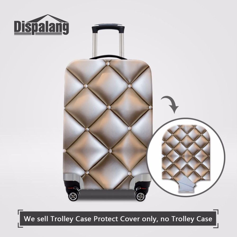 Cute 3D Abstract Circle Pattern Luggage Protector Travel Luggage Cover Trolley Case Protective Cover Fits 18-32 Inch