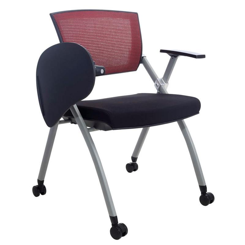 Multifonctionnel Simple Chaise de Bureau Personnel Conférence Réunion Formation Chaises Avec Conseil D'écriture Portable Pliant Chaise D'ordinateur