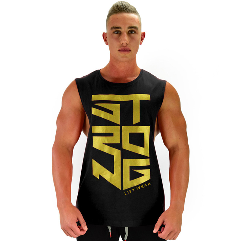 2019 New Mens Bodybuilding Cotton Tank Top Gyms Fitness Sleeveless Shirt Male Clothing Fashion Singlet Vest Undershirt 4 Color