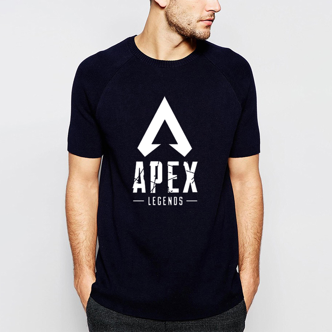 Gamimg Shirt Men Apex Legends New Arrival 2019 Summer 100% Cotton Short Sleeve T-Shirts Casual Black T Shirt Harajuku Tops CM01