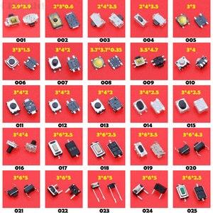 Image 2 - Cltgxdd 100 modele różne mikro przełączniki taktowe Reset Mini przełącznik liści SMD DIP 2*4 / 3*6/4*4*6*6*6