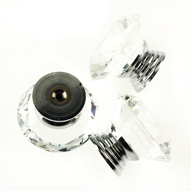 Nouveau tiroir de cuisine armoire cristal verre strass forme poignée de porte meubles boutons matériel armoire bouton tiroir poignée de traction