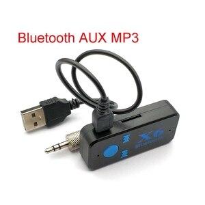 Автомобильный комплект со штекером 3,5 мм, AUX аудио, MP3, музыка, Bluetooth, беспроводной динамик, адаптер для наушников, свободные руки, звонки