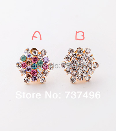 Version Of The Whole Earrings Atmosphere Full Fake Diamond Ear Clip Polygons Without Holes