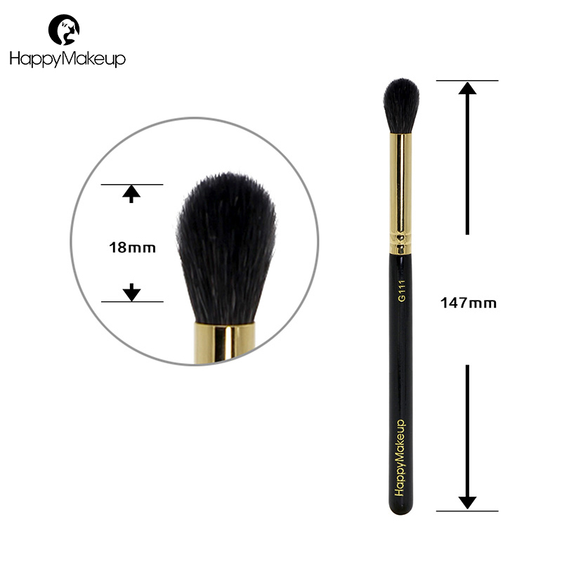 Happy Makeup Eyeshadow Brush Nose Highlighter Blending Eye Shader Shadow Crease Brush Natural Goat Hair Professional Make Up