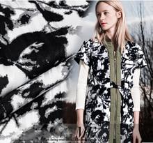 Ink splash dye high-level imitation natural hemp spring clothing fabric printed DIY large code cloth
