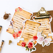 30pcs/lot Retro Label Postcards 'LOVE SONNET' Special Shapes Greeting Cards Label Different Collection Student Office Supplies