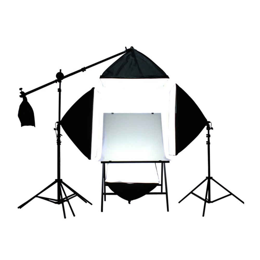 4PCS Flash Softbox Lightbox +3 Light Stand Photography Continuous Lighting Lamp Kit for Photo Flash Speedlite Studio Shooting hpusn photography studio heavy duty 280cm light stand lightting kit for flash softbox umbrella support 3 direction mount