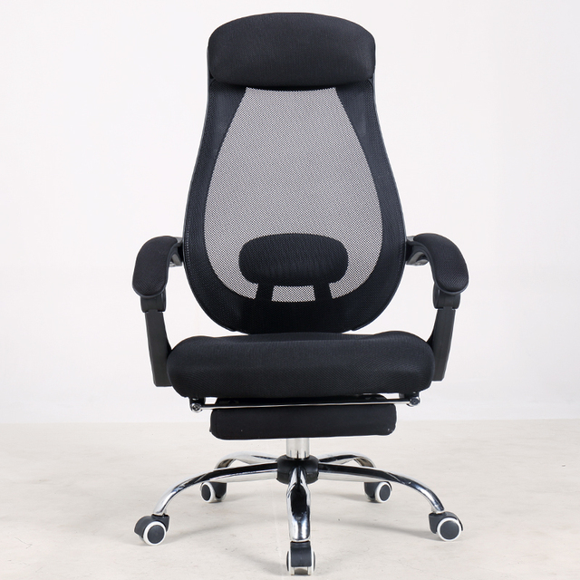 Lifting Rotatable Mesh Cloth Computer Chair Household Casual Multifunction Office Swivel Breathable With Footrest