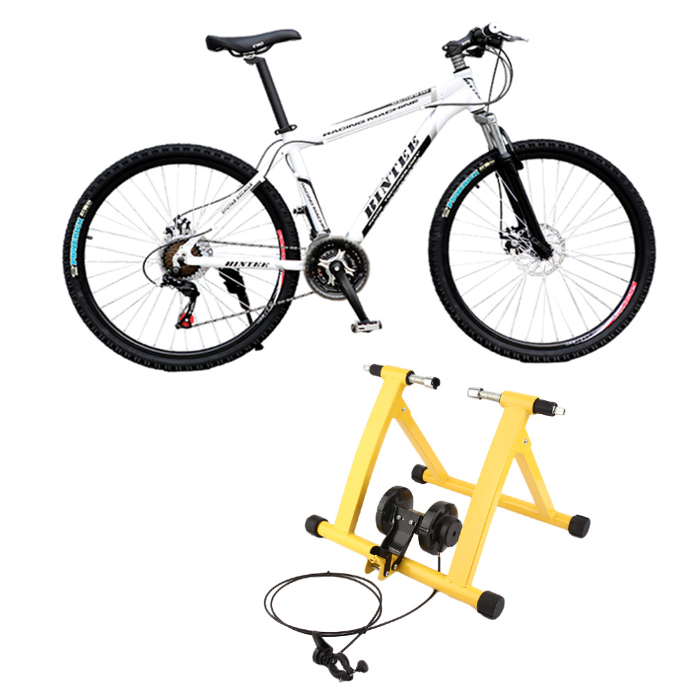 Steel Cycling Mountain Biking Indoor Training Station Road Bicycle Parking Station Bike Indoor Exercise Trainer Stand Hot free indoor exercise bicycle trainer 6 levels home bike trainer mtb road bike cycling training roller bicycle rack holder stand