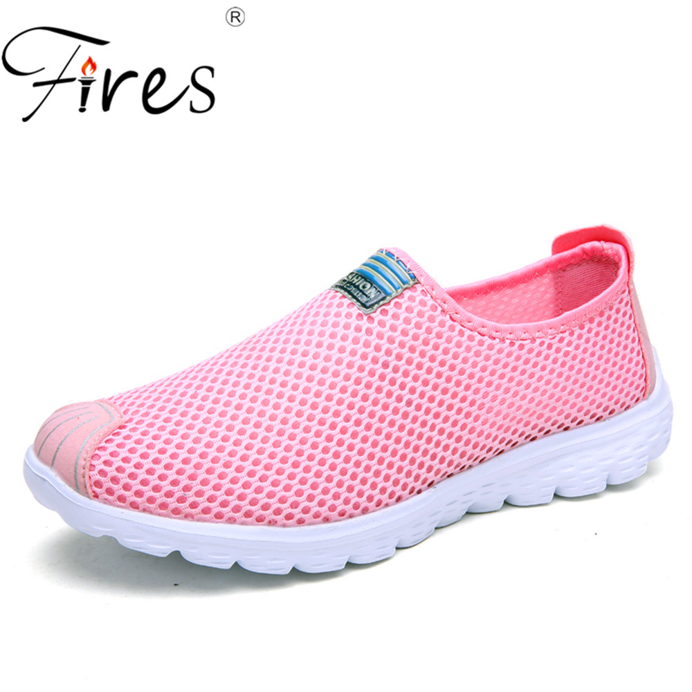 Fires Big Size Sport Shoes For Women Running Shoes summer  35-46 Breathable Couple Jogging Shoes Unisex Out Walking Sneakers
