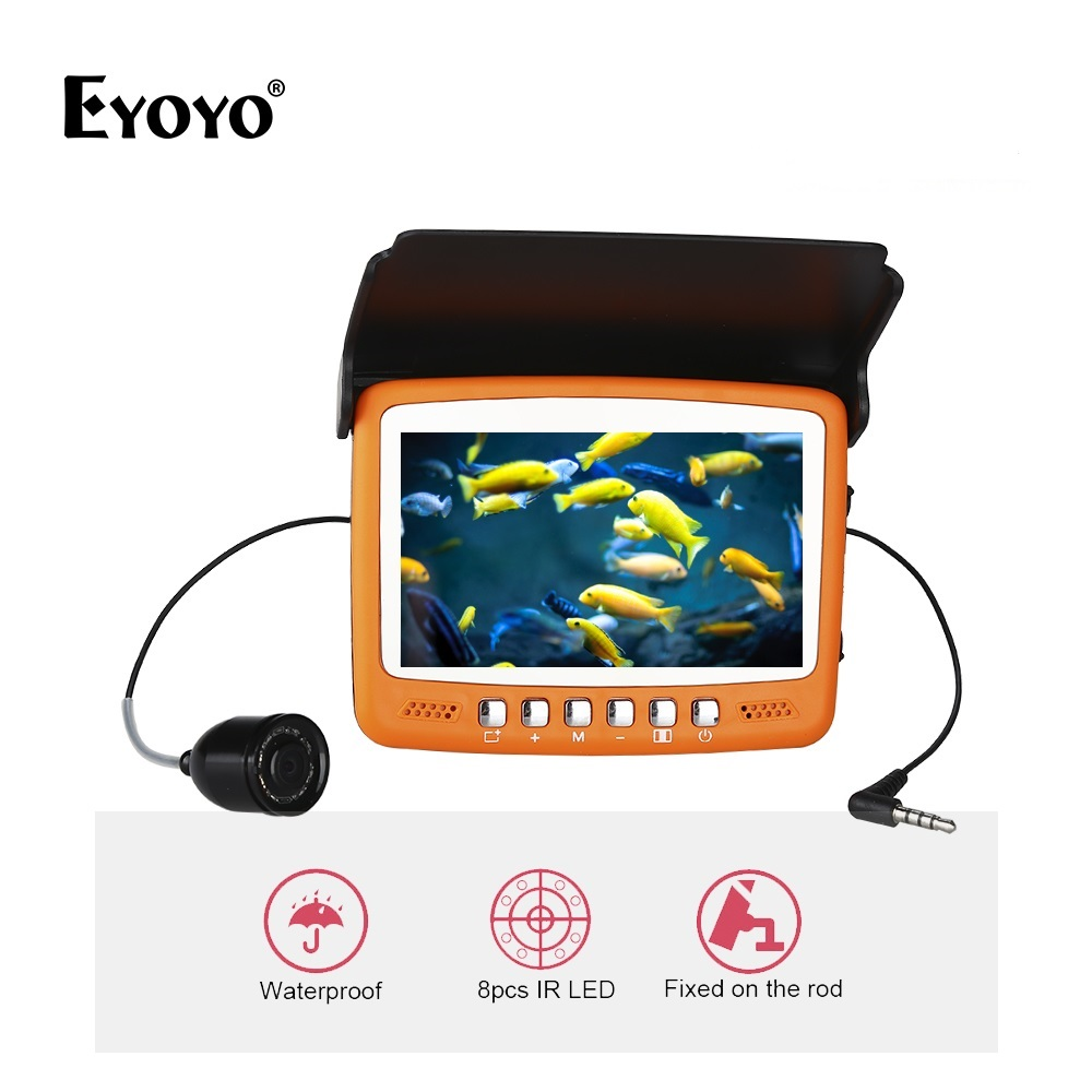 Eyoyo 15M 1000TVL Ice Underwater Fish Finder Fishing Video Camera 4.3
