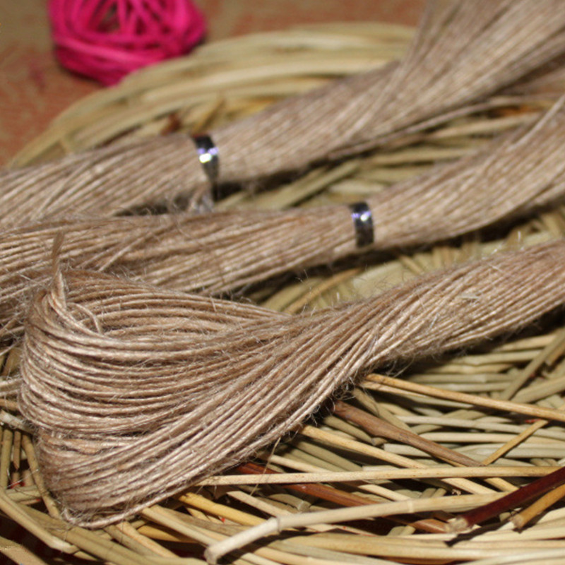 20 meters/lot Brown string for kraft Paper Tags rope 100%linen Cords ...