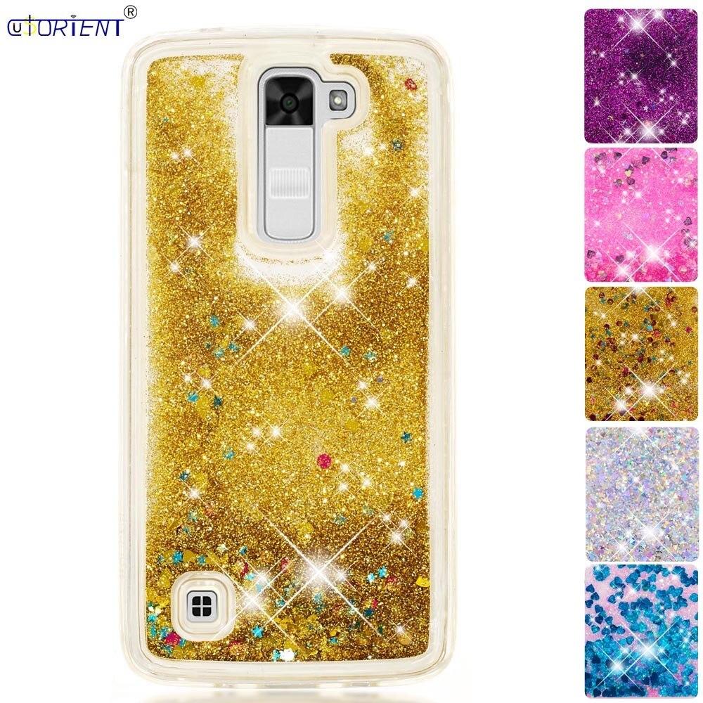 Glitter Case Lg K8 Tle K7 Bling Dynamic Liquid Quicksand Phone Cover Lg K 7 8 2016 Soft Silicone Bumper Case Funda K350e Csv-150 Phone Bags & Cases
