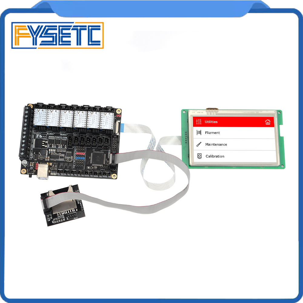 "Image 2 - FYSETC F6 V1.3 ALL in one Mainboard + 4.3"" Touch Screen + 6pcs TMC2100/TMC2208 /TMC2130 v1.2/DRV8825/S109/A4988/ST820-in 3D Printer Parts & Accessories from Computer & Office"