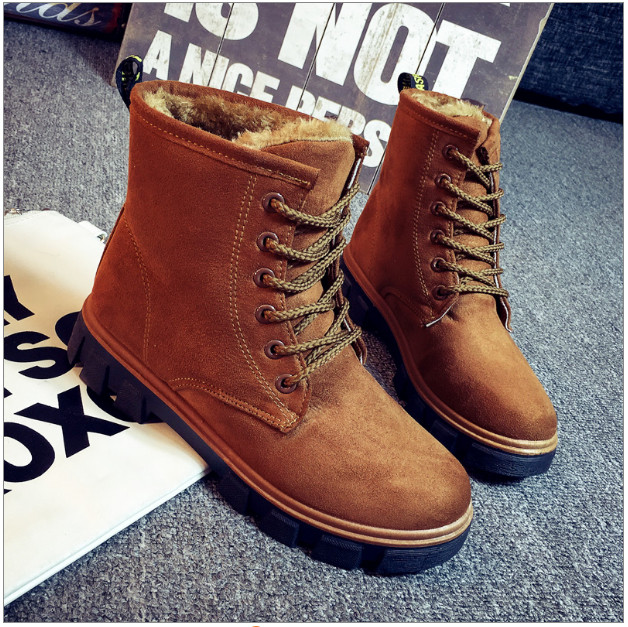 New 2016 Fashion Fur Female Warm Ankle Boots Women Boots Snow Boots And Autumn Winter Women Shoes Non-Slip Shoe For Women #Y30YQ new 2017 fashion female warm ankle boots lace women boots snow boots and autumn winter women shoes
