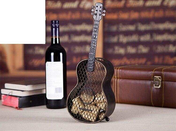 Rétro fait à la main fer Art guitare stockage Rack décoratif en métal Instrument de musique organisateur boîte nouveauté ornement artisanat accessoires - 4