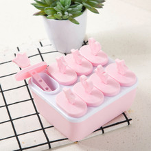 8Pcs Lolly Mould Tray Pan Kitchen 6 Cell Frozen Ice Cube Molds Popsicle Maker DIY Ice Cream Tools Cooking tools kitchen accessor