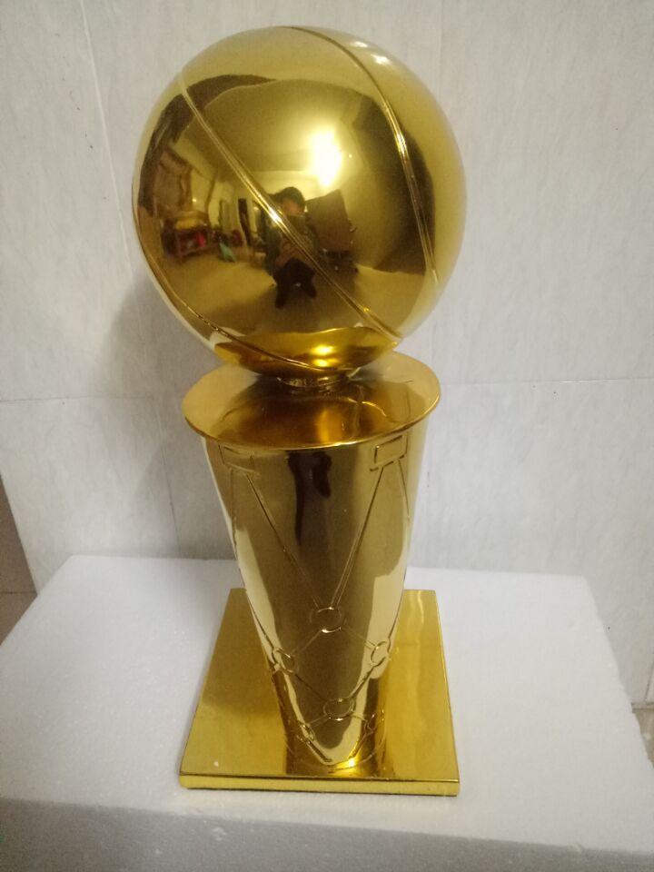 44 cm Larry OBrien championnat trophée USA O'brian Cup 2014 basketball trophée coupe fans souvenir fasketball trophée coupe