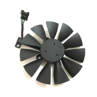 1 Piece PLD09210S12HH 4pin 0 4A Computer VGA Cooler Graphics Card Fan For ASUS STRIX R9