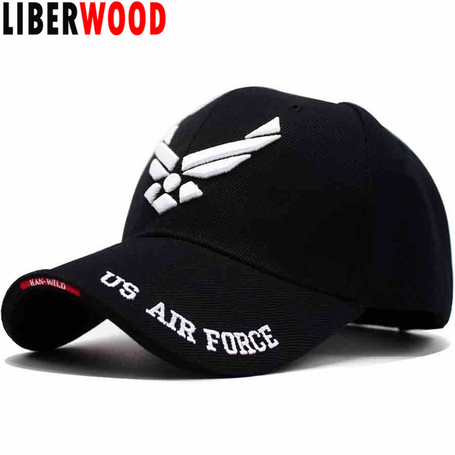 7336e76d082 LIBERWOOD U.S. Air Force caps Tactical Operator hats Retired Cap 3D  Embroidered Hat Cap Adjustable Ball caps Men Women