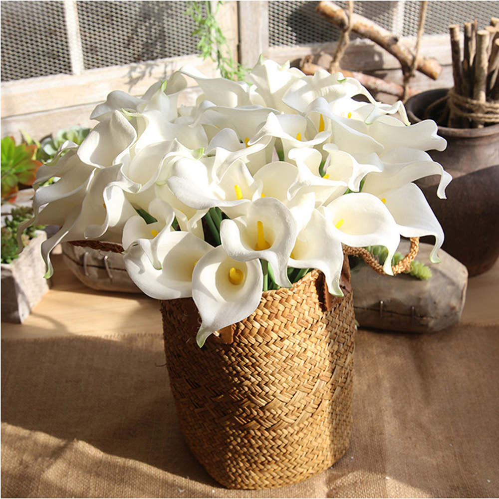 Nueva Artificial Calla Flores Single Stem Bouquet Real Touch PU - Para fiestas y celebraciones