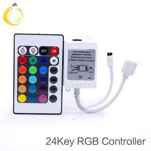 Image 2 - Contrôleur à distance RGB, 24 touches, LED DC12V IR, pour SMD 3528, 5050, RGB, LED