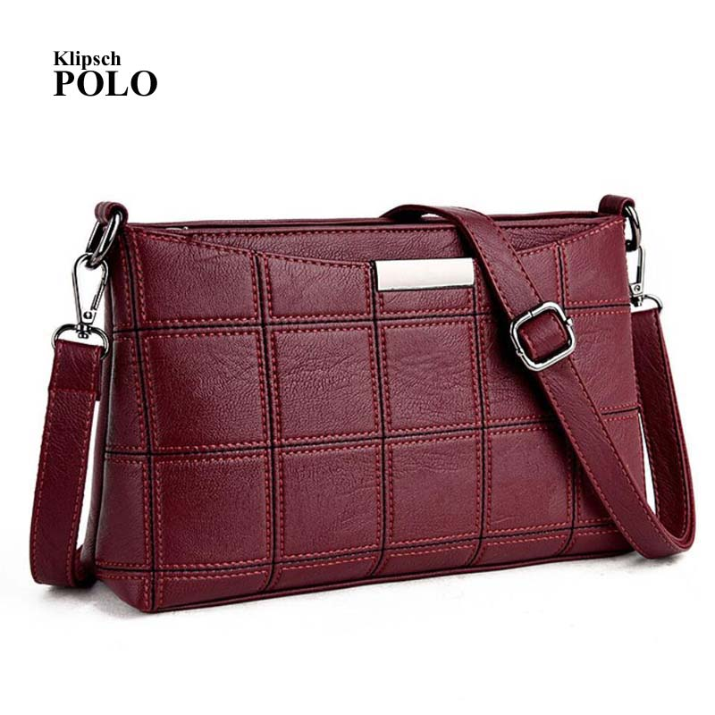 Women Handbag Leather Plaid Messenger Bags Sac a Main Shoulder Bags Women Crossbody Bag Ladies Designer High Quality Handbags 2018 brand designer women messenger bags crossbody soft leather shoulder bag high quality fashion women bag luxury handbag l8 53