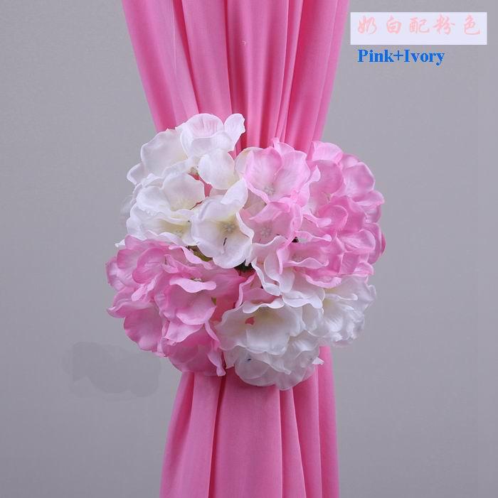 Spr New Korean Hydrangea Flower Clip Wedding Decorations Background