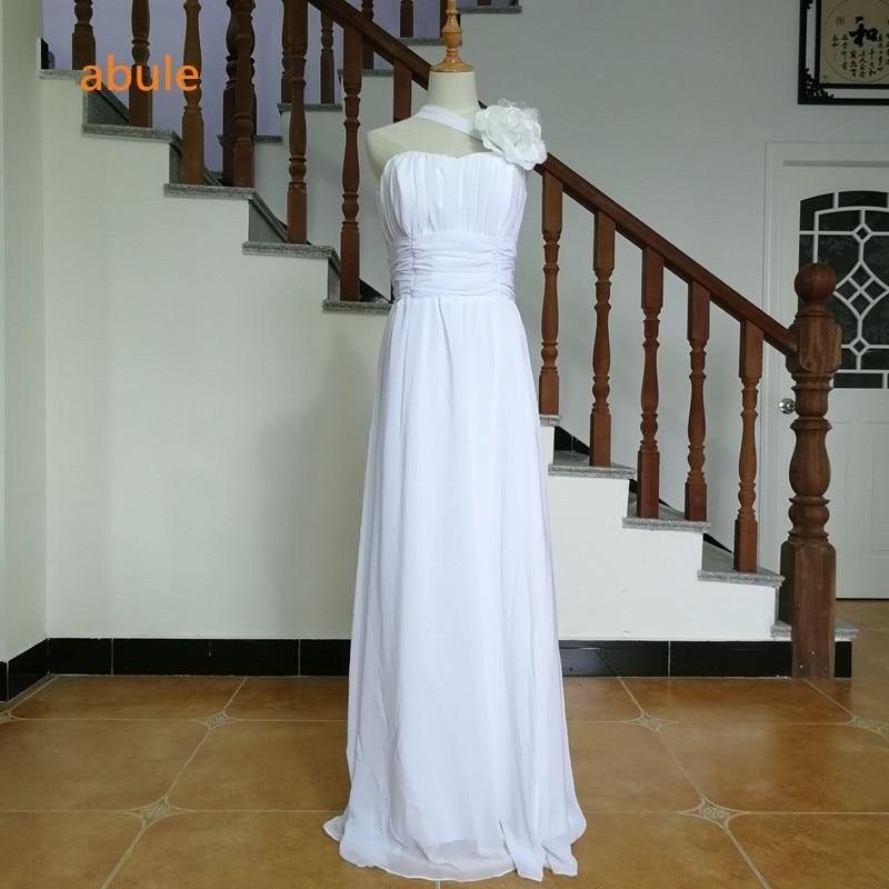 abule 2017 strand brudklänning vintage blommor Chiffon spets upp brudklänningar draped dubai vestido de noiva plus storlek