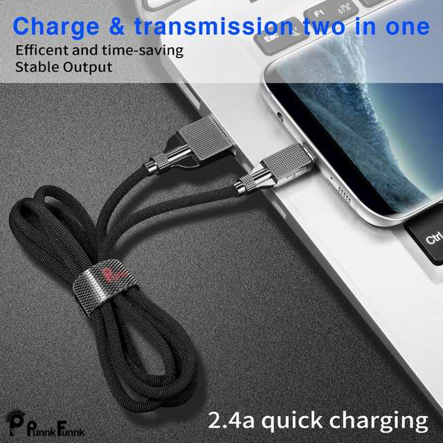 US $0 99 30% OFF|PunnkFunnk USB Type C Braided Cable, Luxury Fast Charging  Nylon USB C Cable for S9/S10/S8 LG V30/V20/G7 xiaomi mi8 في PunnkFunnk