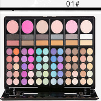 78 Color Eyeshadow Pearl Shimmer Studio Eye Shadow Compact Palettes Earth Warm Luminous Sets Makeup Palette